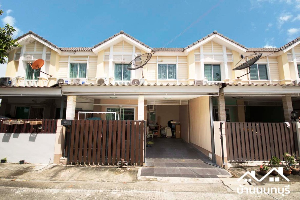 For SaleTownhouseRama5, Ratchapruek, Bangkruai : 2-storey townhome, Pruksa Ville 54, Rama 5, complete addition, beautiful condition.