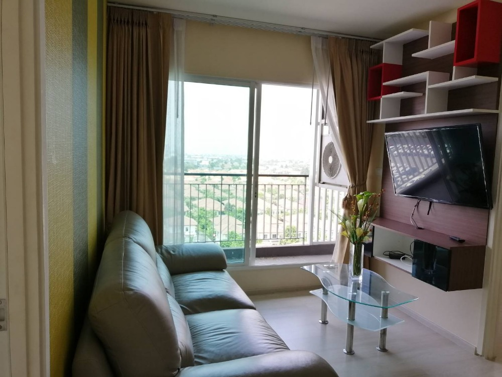For RentCondoRattanathibet, Sanambinna : **For RENT = 13,000 THB.** Aspire Rattanathibet 1 : Fully Furnished 2 Beds/1 Bath - 48 Sqm Condo