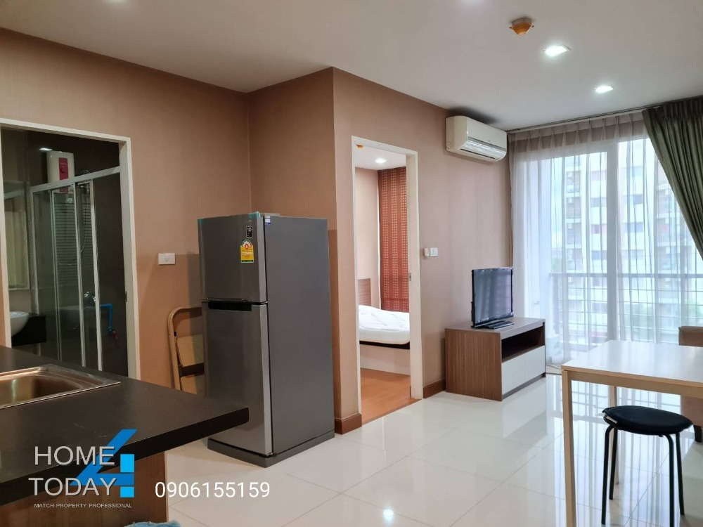 For RentCondoLadkrabang, Suwannaphum Airport : Urgent for rent, Airlink Residence Condo, 5th floor, cool room, not sunny, comfortable