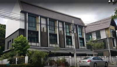For RentTownhouseRama5, Ratchapruek, Bangkruai : 3-storey townhome for rent, Flora Wongsawang **, convenient transportation near MRT (Tiwanon)