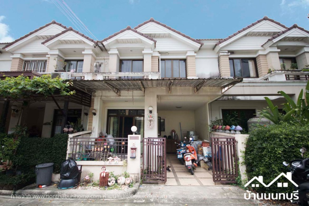 For SaleTownhouseBangbuathong, Sainoi : 2-storey townhome, Thip Phiman, Baan Rim Khlong Bang Yai, garage extension
