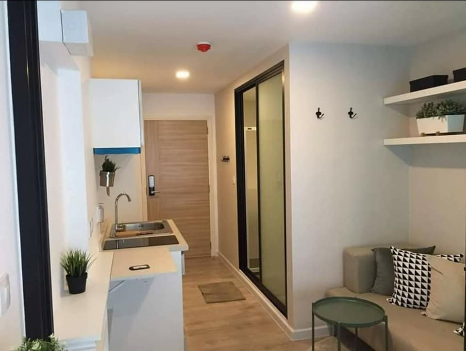For RentCondoSamrong, Samut Prakan : Condo for rent PAUSE Sukhumvit 115, near BTS Pu Chao, ready to move in