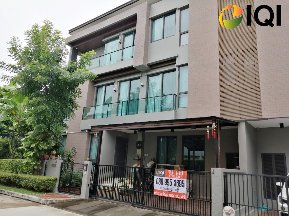 For SaleHouseLadprao101, The Mall Bang Kapi : 3-storey detached house for sale, SOUL Ekamai-Ladprao project, Ladprao 112 road, next to Bodindecha (Sing Singhaseni) school behind the corner