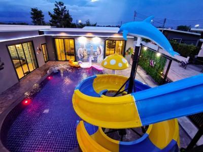 For SaleHouseHua Hin, Prachuap Khiri Khan, Pran Buri : ขายบ้าน Pool Villa หัวหิน ใหม่เอี่ยม พร้อมสระว่ายน้ำ เครื่องเล่นสไลด์เดอร์ใหญ่  Ref.A01200902