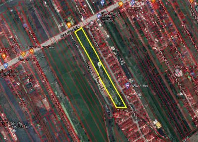 ขายที่ดินมีนบุรี-ร่มเกล้า : ขายที่ดินเปล่า 13ไร่ ติดถนนราษฎร์อุทิศ มีนบุรี (ติดเจ้าของ)