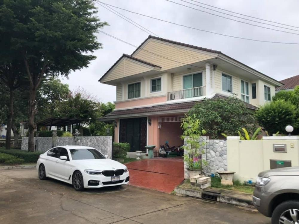 For SaleHouseRama 2, Bang Khun Thian : 🏡 2 storey detached house for sale, Prueklada Village 2 Tha Kham corner house, free furniture built in the whole house