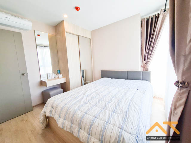 For RentCondoBangna, Lasalle, Bearing : For rent, Ideo O2, 2 bedrooms, 1 bath, size 46 sq.m., beautiful room, inexpensive, near BTS Bangna