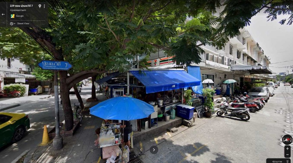 For RentRetailSukhumvit, Asoke, Thonglor : The area in front of the Seven storey shop near the office, good location, corner lock