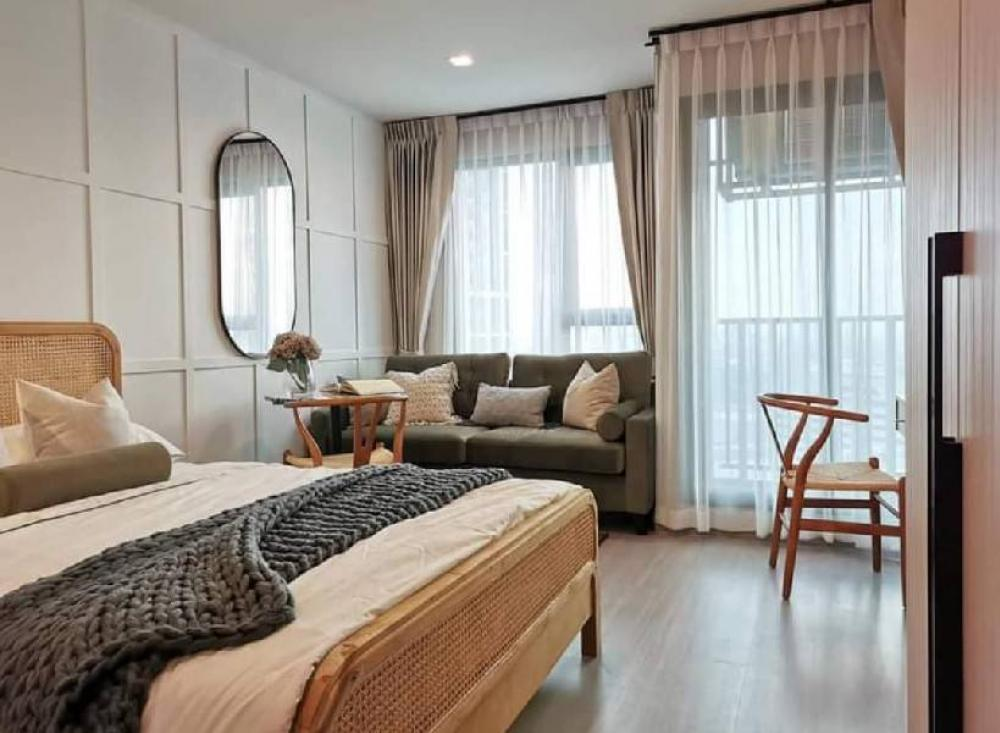 For RentCondoLadprao, Central Ladprao : Condo for rent Life Ladprao,💥high floor Beautiful view💥, side view of Central Ladprao and Chatuchak Park, not blocked Size 26 sq.m., 27th floor, Building A  💰 Rental price: 15,000 baht / month