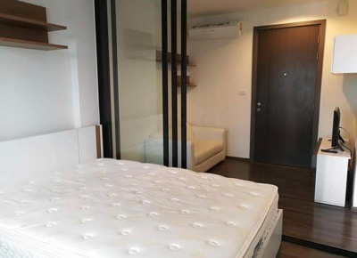For RentCondoOnnut, Udomsuk : Condo for rent: The base park west Sukhumvit 77, beautiful room, good condition, 26 sqm., 19th floor, city view, near BTS On Nut 12,000 ฿