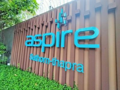 For SaleCondoThaphra, Wutthakat : Condo for sale Aspire Sathorn-Tha Phra, next to BTS Talat Phlu, near The Mall Tha Phra, cheap price