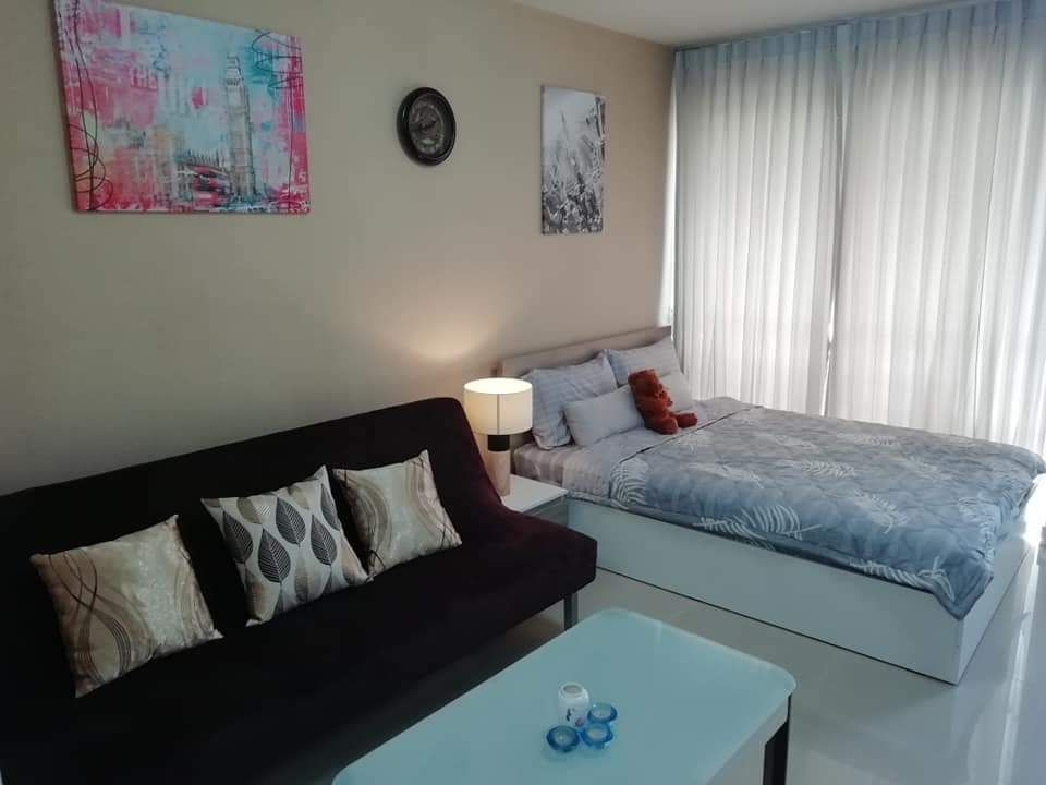 For RentCondoRama9, RCA, Petchaburi : 🔥🔥🔥 ** Release only 7,500 baht for rent, I-House Laguna Garden Condo (I-HOUSE LAGUNA GARDEN RCA), size 26 sqm., Building C, 2nd floor, near MRT Rama 9 station, only 5 minutes 🔥🔥 🔥