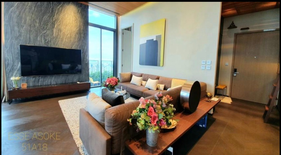 For SaleCondoSukhumvit, Asoke, Thonglor : +++ - Urgent sale +++ Beautiful room ++ The ESSE Asoke ** 2 bedrooms, size 165 sq.m., Fully Furnished
