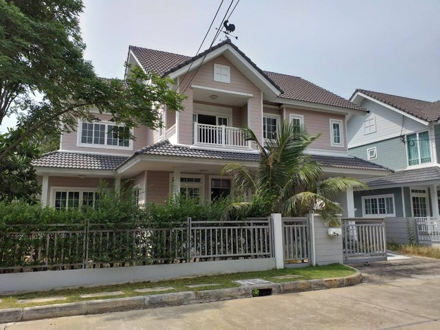 For SaleHouseYothinpattana,CDC : House for sale Burasiri Panyindra, 75 sq.w., two canal road, Khlong Sam Wa district, near Safari World