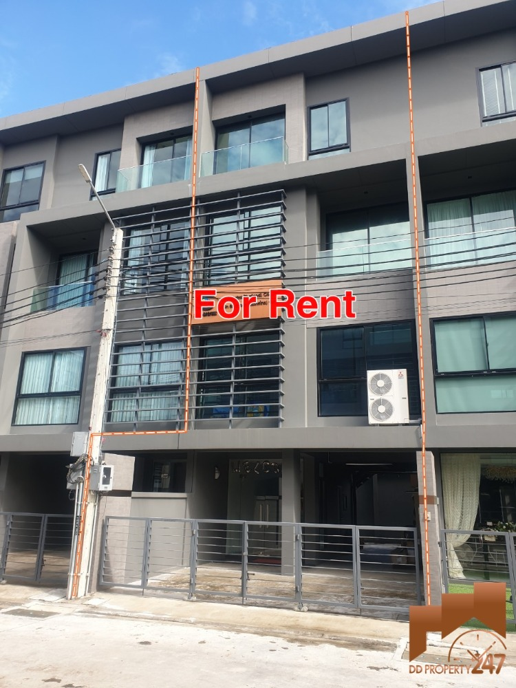 For RentHome OfficeYothinpattana,CDC : Home office for rent, 4 floors, ARCO, Ekkamai-Ramindra express area (behind CHIC REPUBLIC), Soi Yothin Pattana 11, ready to move in.