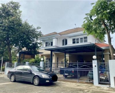 For RentHouseLadkrabang, Suwannaphum Airport : House for rent, 2 floors, 3 bedrooms, Kalapapruek Village, Regent Ring Road - On Nut, Soi Kanjanaphisek 39