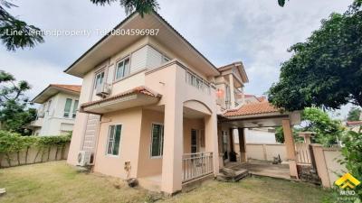 For SaleHouseRangsit, Patumtani : 2 storey detached house for sale, Maneerin Park Village, Rangsit, Tiwanon, Ratchapruek, Pathum Thani