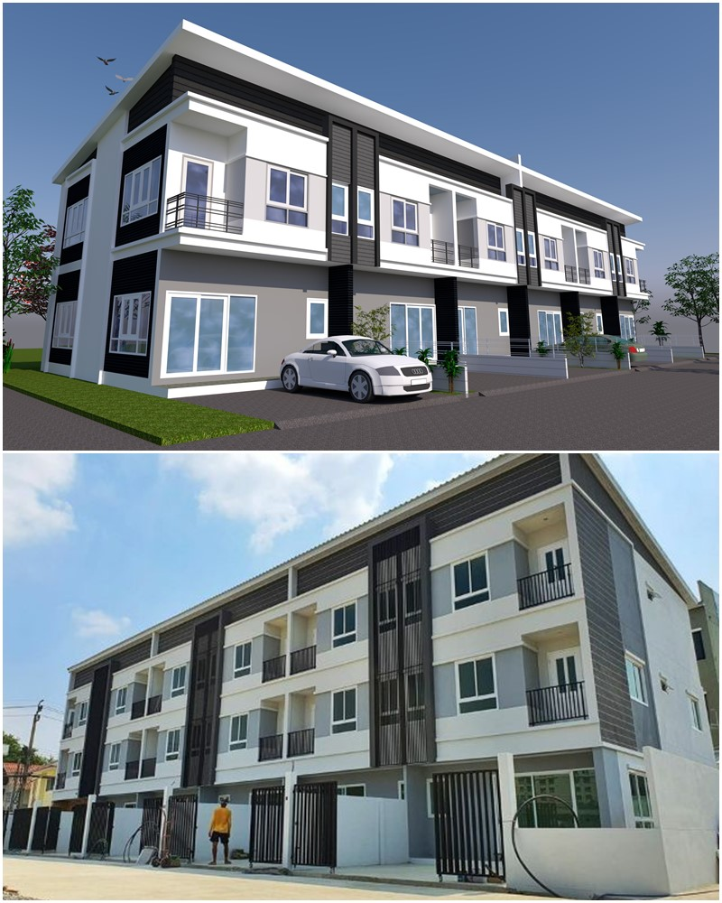 For SaleTownhouseVipawadee, Don Mueang, Lak Si : Sell townhome 2 and 3 floors in modern style. Chai Charoen Project in Don Mueang District