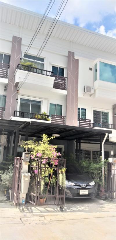 For SaleTownhouseRama 2, Bang Khun Thian : 3-storey townhome for sale, Supalai Village, Primo Rama 2, Soi 44, Bang Khun Thian, Bangkok