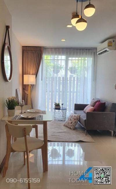 For SaleCondoLadkrabang, Suwannaphum Airport : ‼ ️ Urgent sale, Air Link Residence, new room, very beautiful. All new fall, Scandinavian Style‼ ️
