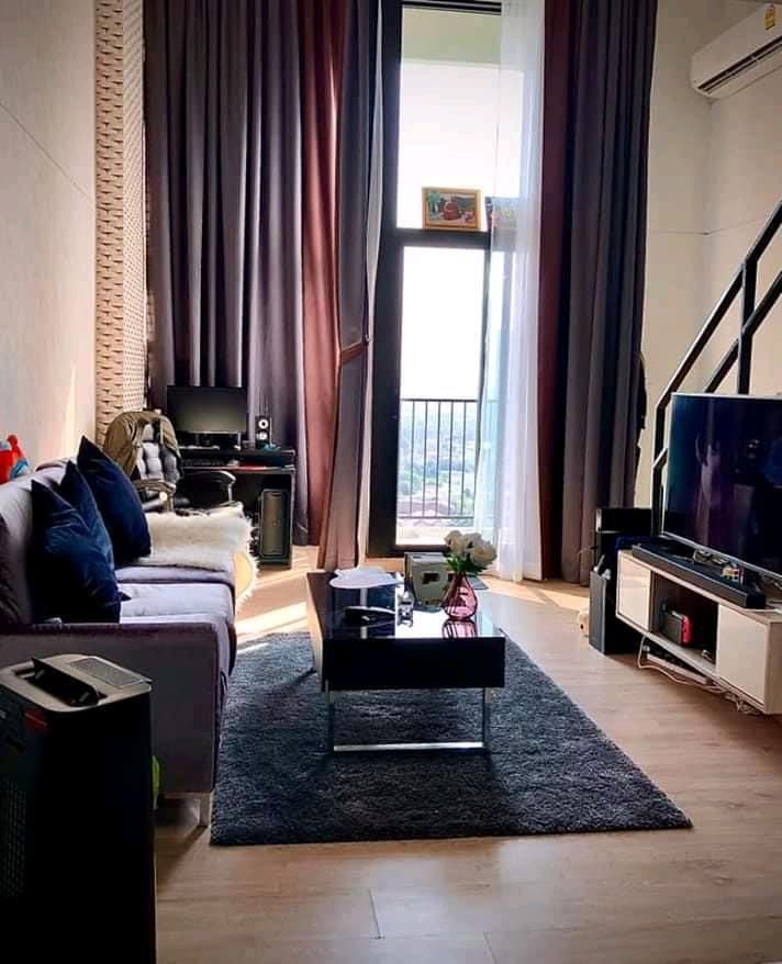 For RentCondoRattanathibet, Sanambinna : For rent, Knightsbridge, Tiwanon, near mrt, Ministry of Public Health, fully furnished, city view