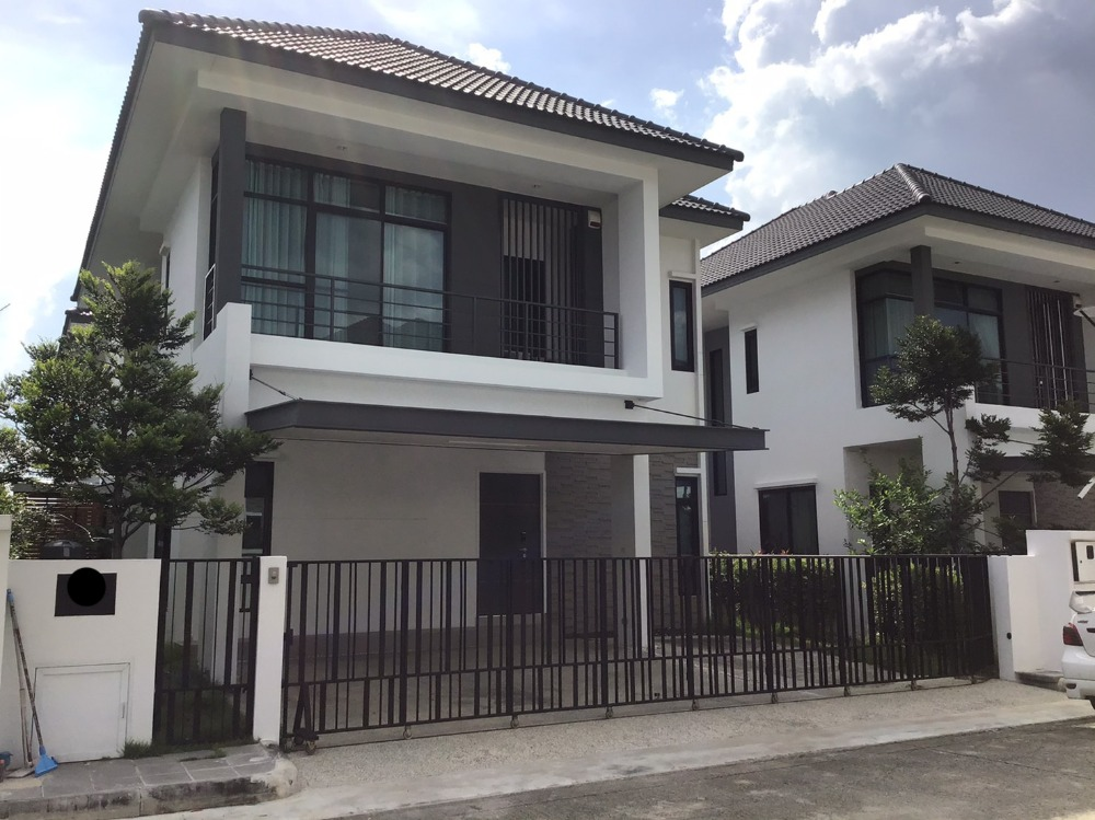 For RentHouseRama 2, Bang Khun Thian : 2 storey detached house for rent, new condition, project next to Kanchana road Near Central Rama 2 department store