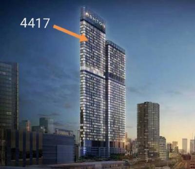 For RentCondoSukhumvit, Asoke, Thonglor : Ashton Asoke Ashton Asoke fully furnished, very high floor, 44 views.