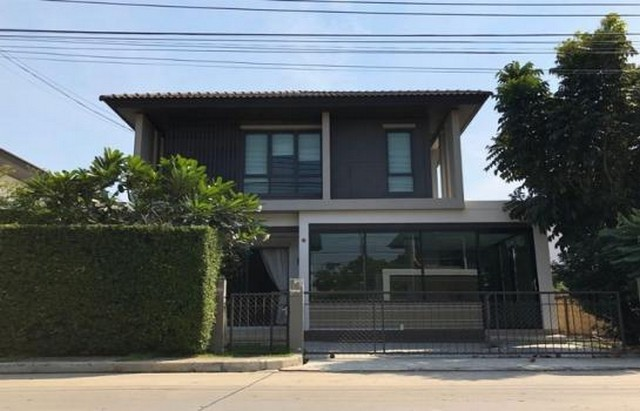 For RentHouseNawamin, Ramindra : B118 2 storey detached house for rent, Sansiri Habitia Orbithathairat project, Hathairat Road, beautiful house, very good location.