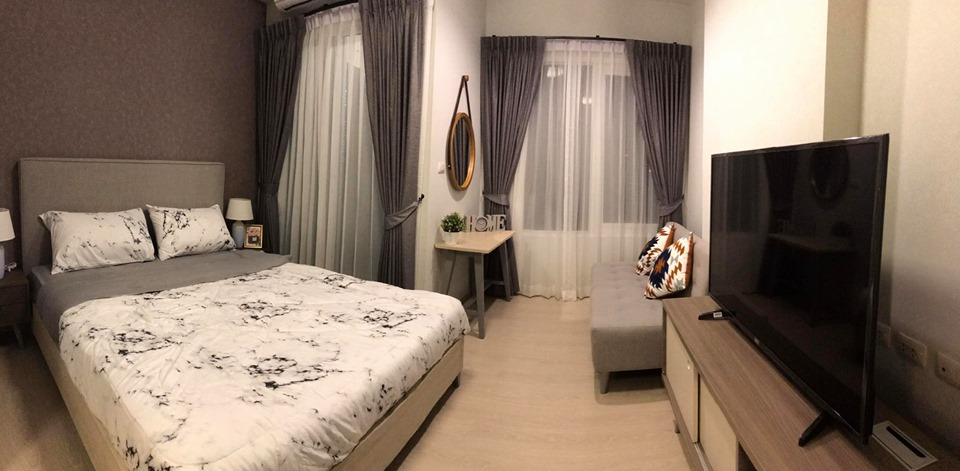 For RentCondoRatchadapisek, Huaikwang, Suttisan : For Rent Chapter one ECO Ratchada-Huai Khwang Nice room, ready to move in @ 24Agency, free BTS / MRT card