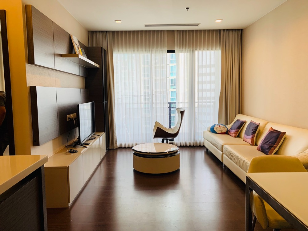 For RentCondoRatchadapisek, Huaikwang, Suttisan : Ivy Ampio for rent, 2 bedrooms, 80 sq m, spacious room, near MRT Covid 19, special discount.