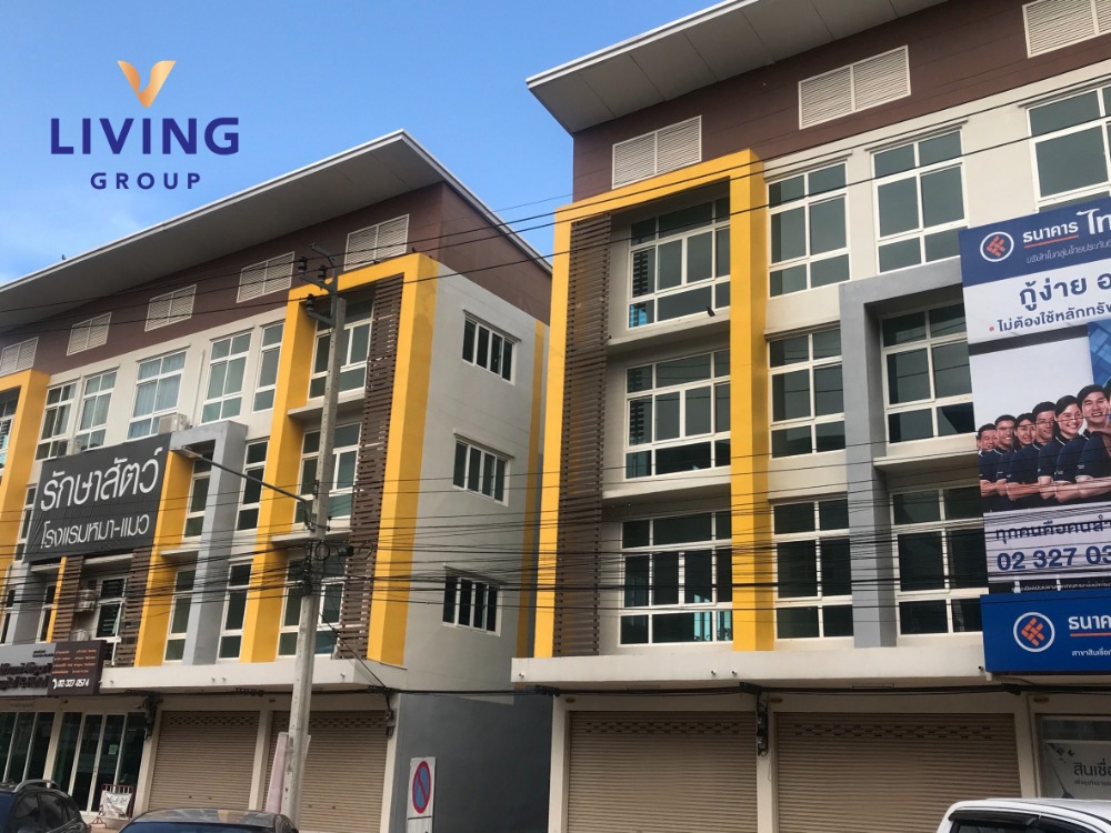 For RentShophouseLadkrabang, Suwannaphum Airport : Answer business needs! Rent at a good price, commercial building, Suvarnabhumi Town @ Hua Takhe, near Airport Link Lat Krabang, near Suvarnabhumi Airport Ready to start business immediately