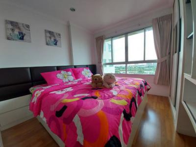 For RentCondoRama9, RCA, Petchaburi : Condo for rent, Lumpini Place Rama IX - Ratchada, 1 bedroom, 35 sq.m., 21st floor, near MRT Rama 9 and near Airport Link Makkasan.