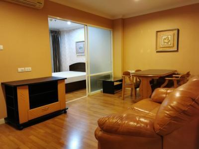 For RentCondoRama9, RCA, Petchaburi : Condo for rent Lumpini Place Rama IX - Ratchada, 1 bedroom, 35 sq.m., 20th floor, near MRT Rama 9, beautiful room.