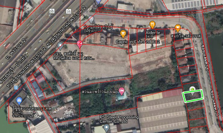 For SaleLandSamut Sakhon : 147.9 Sq.W Land for SALE at Nusasiri City Rama 2!! Just 300 meters from main road!!
