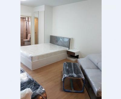 For RentCondoChengwatana, Muangthong : Condo Supalai Vista PakKred Intersection @MRT PakKred, 33 sq.m 17th floor Facing North, Clear View, Fully furnished