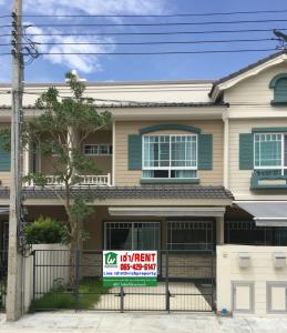 For RentHouseBangna, Lasalle, Bearing : Townhome for rent, Indy Bangna Km.7, fully furnished, vintage style.