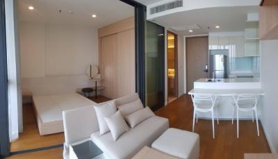 For RentCondoWongwianyai, Charoennakor : Rent a new room, beautiful, high floor, good view, Bright Wongwienyhai project, interested call 0645414424