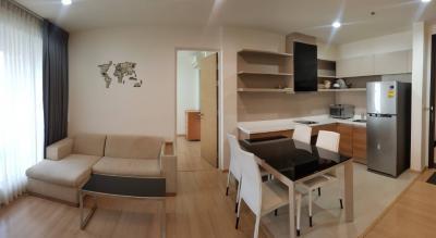 For RentCondoOnnut, Udomsuk : For rent, beautiful room, high floor, near the train, good price, Rhythm Sukhumvit50 project, call 0645414424.