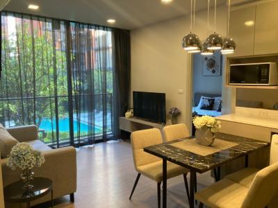 For SaleCondoSukhumvit, Asoke, Thonglor : Sale Condo Quintara treehause Sukhumvit 42, 2 bedroom, facing pool close to BTS Ekkamai