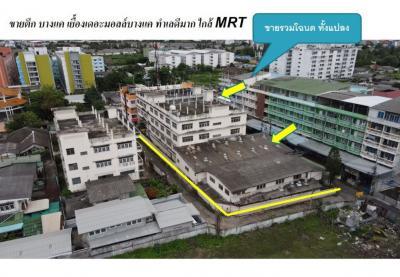 For SaleShophouseBang kae, Phetkasem : Sell building Bang Khae Phetkasem 47, size 506 sq m. 4 floors, near the main train two. Opposite The Mall Bang Khae Red Area