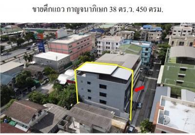 For SaleShophouseBang kae, Phetkasem : Commercial building for sale, Bang Waek, 38 square meters, strong structure, near the Mall