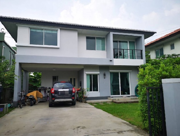 For RentHouseChengwatana, Muangthong : 2 storey detached house for rent, Ratchaphruek area, Casa Presto Village, Ratchapruek - Chaengwattana, beautiful house, big, fully furnished, 4 air conditioners, residential only Able to accommodate small animals