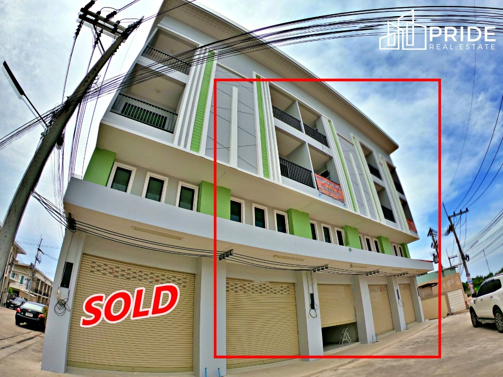For SaleShophousePattaya, Bangsaen, Chonburi : 4-storey commercial building for sale (last 4 units) Central Pattaya - Nern Plubwaan Commercial Building in Central Pattaya - Nernplubwaan