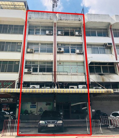 For SaleShophouseRatchadapisek, Huaikwang, Suttisan : 4 and a half storey commercial building for sale, 576 sqm., Soi Ratchada 24, fully furnished, 100 meters from MRT Ratchada