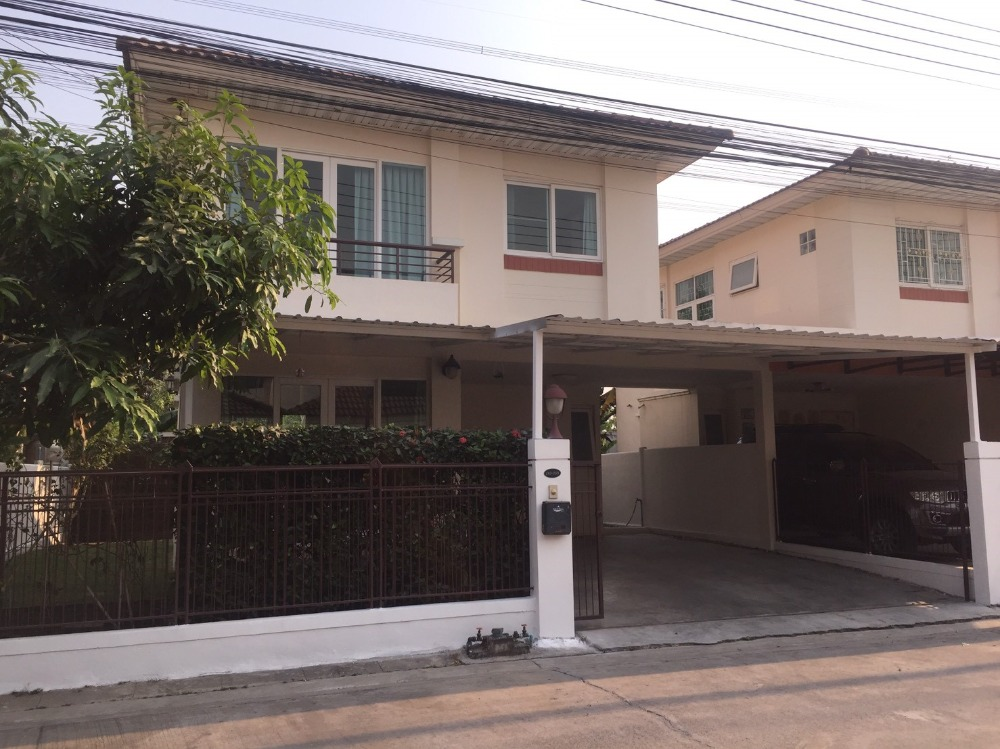 For SaleHouseRangsit, Patumtani : Modern style twin house for sale Supalai Ville (Sri Saman-Pathum Thani) 3 bedrooms, 2 bathrooms, area 42.30 square meters