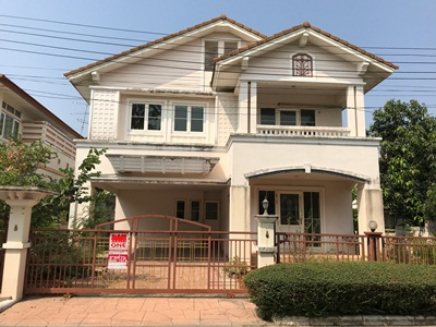 For SaleHouseLadkrabang, Suwannaphum Airport : House for sale Ratchapruek Village - Sukhumvit 103, Chalerm Prakiat Rama 9 Road, Dok Mai Sub-District, Prawet District, Bangkok Area 81 sq.w.