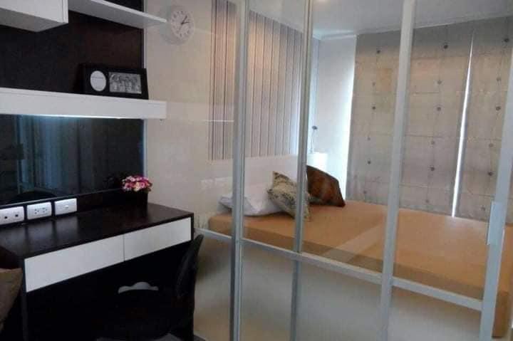 For RentCondoBangna, Lasalle, Bearing : For rent Lumpini Ville Lasalle - Bearing furniture + appliances, garden view