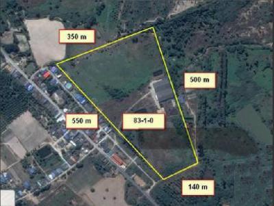 ขายที่ดินพัทยา ชลบุรี : AL026ขายด่วนที่ดิน 83 ไร่ บ้านมาบคล้า ต.คลองกิ่ว อ.บ้านบึง ชลบุรี ไร่ละ 1.3 ล้านบาท