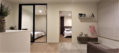 เช่าคอนโดนวมินทร์ รามอินทรา : คอนโดสวย ห้องใหญ่ในราคาสุดดุ้ม เฟอร์ครบ 2 ห้องนอน 1 ห้องน้ำ 1 ห้องนั่งเล่น มีโซฟาเบด มีเครื่องซักผ้า 37.3 ตร.ม. ชั้น 2 ห้องมุม รามอินทรา ทำเลดีมาก