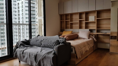 For RentCondoSukhumvit, Asoke, Thonglor : For rent Park24 Sukhumvit 24 BTS prompong size 1 bedroom 1 bathroom 33 sq.m. rent 22,000 / month interested contact Didi 0868159779 Iine: dee1857